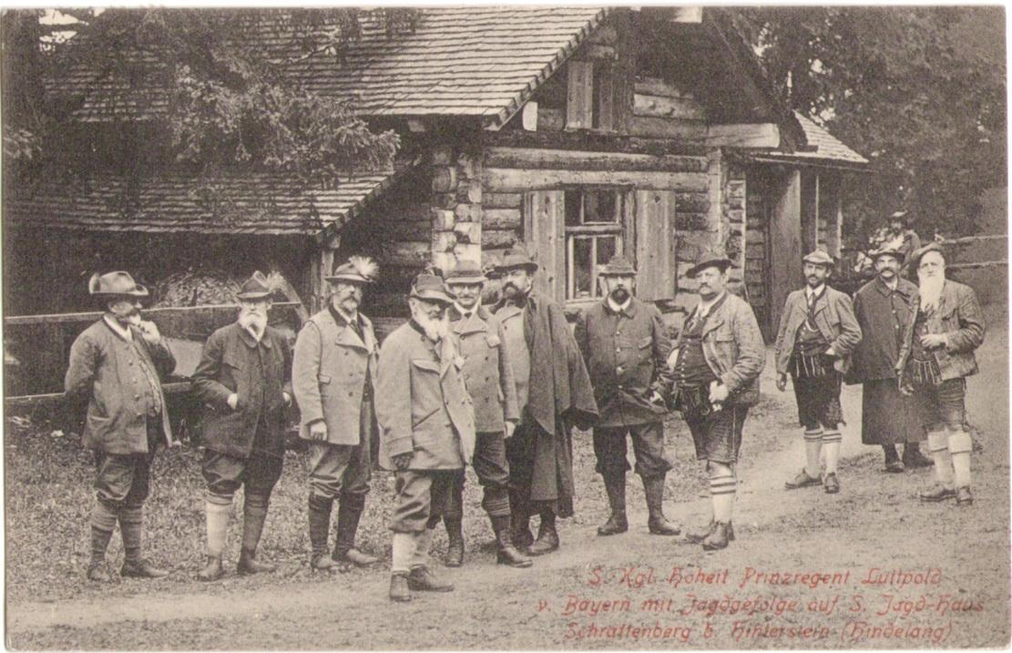 1082_Prinzregent Luitpold mit Leo Dorn und Jagdgefolge 1906p.jpg