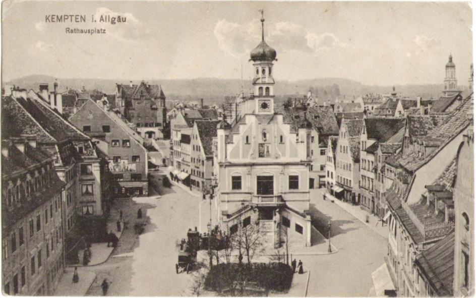 912_Kempten Rathausplatz um 1910paint.jpg