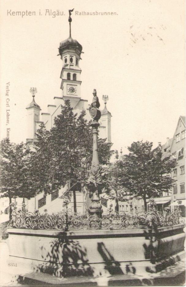913_Kempten Rathausbrunnen um 1905paint.jpg