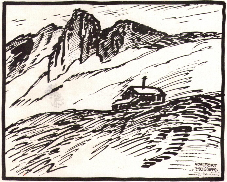Adalbert Holzer - Berghuette um 1920p.jpg