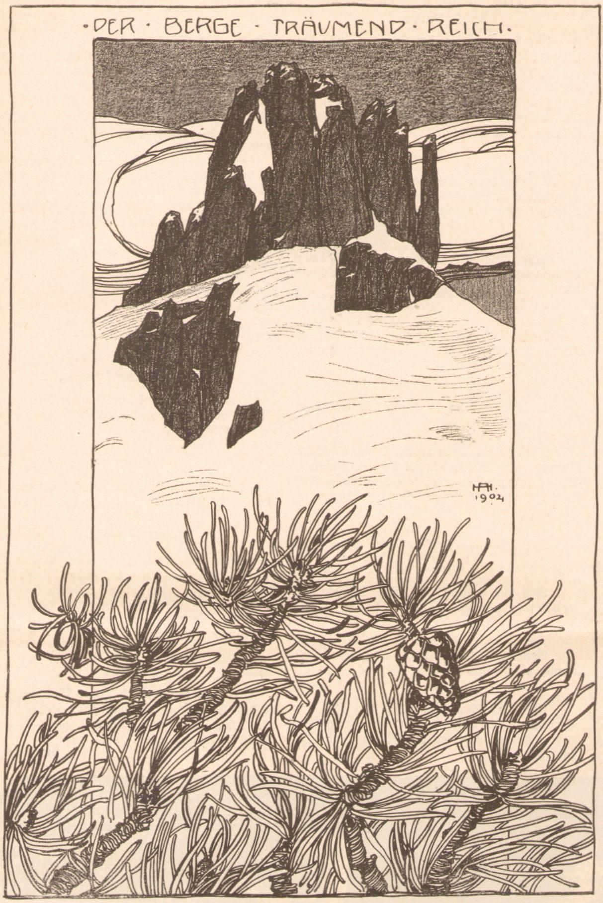 Adalbert Holzer - Der Berge traeumend Reich 1904p.jpg