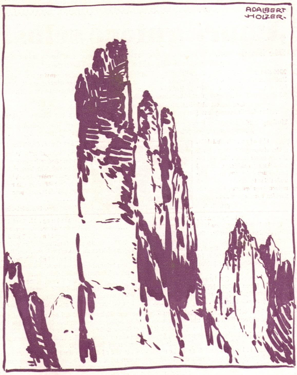 Adalbert Holzer - Dolomitentuerme um 1920p.jpg
