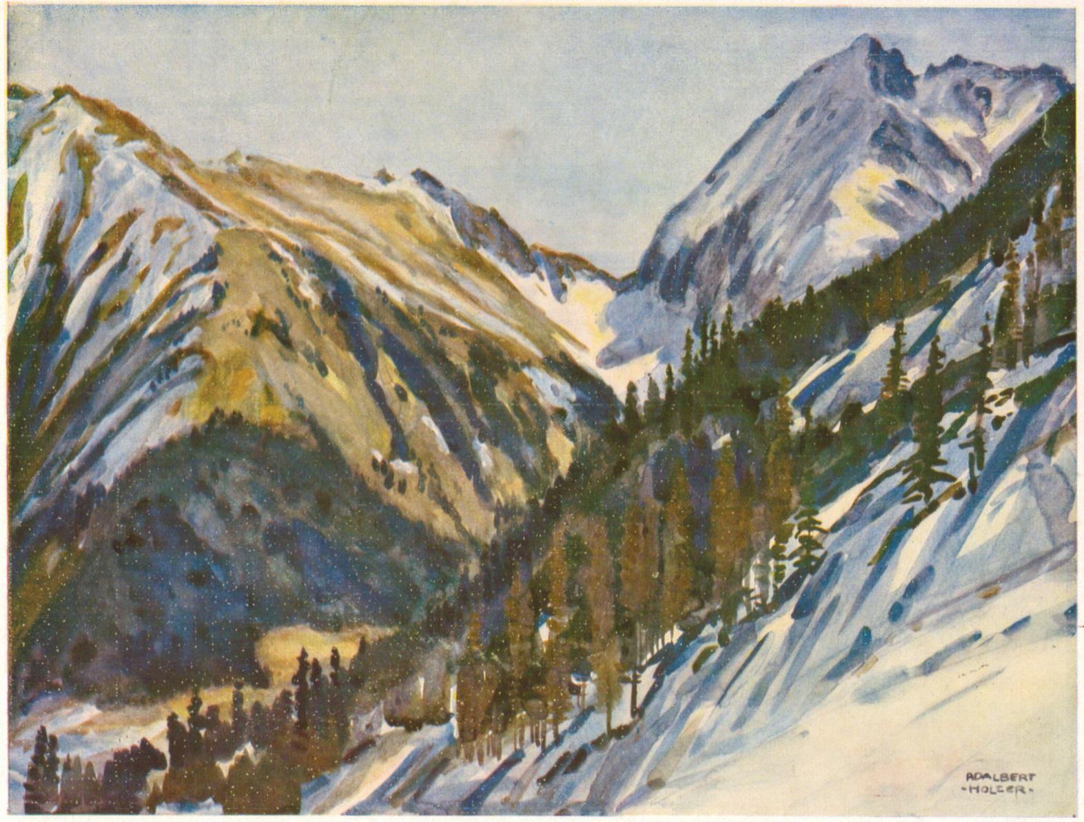 Adalbert Holzer - Vorfruehling in den Lechtaler Alpen um 1925p.jpg
