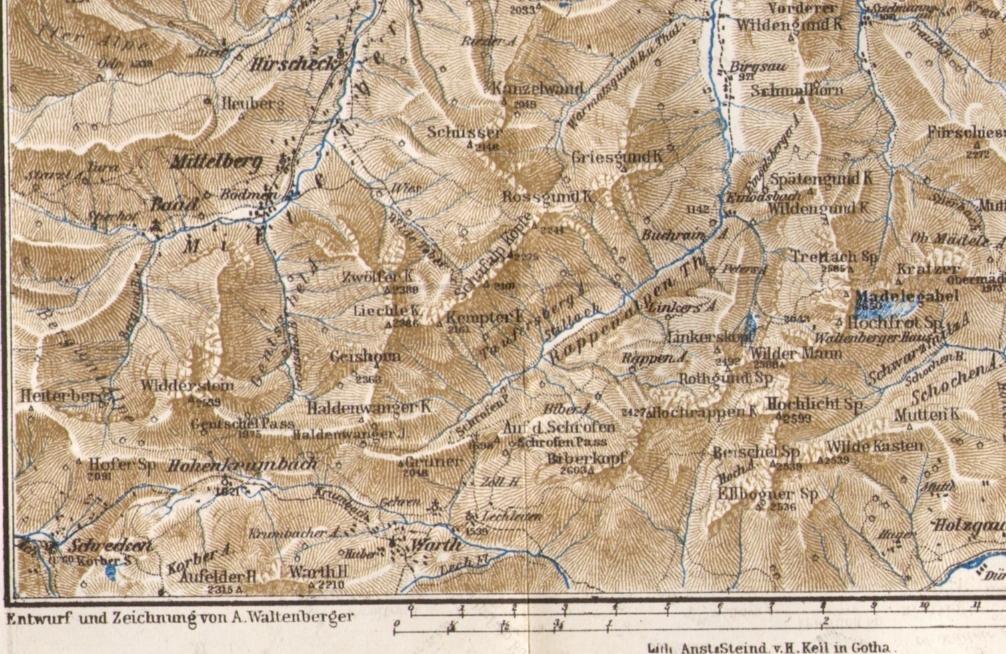 Vorarlberg Karte Berge.Historische Karten Von Den Allgäuer Alpen Festivaltour De