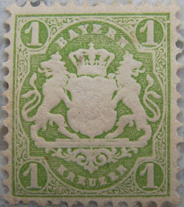 Briefmarke 1 Kreuzer Hellgruen postfrischp.jpg
