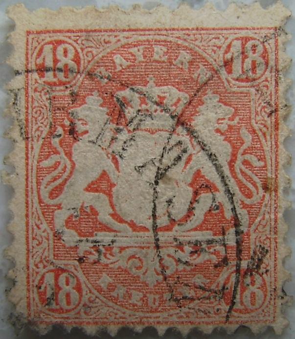 Briefmarke 18 Kreuzer Orangep.jpg