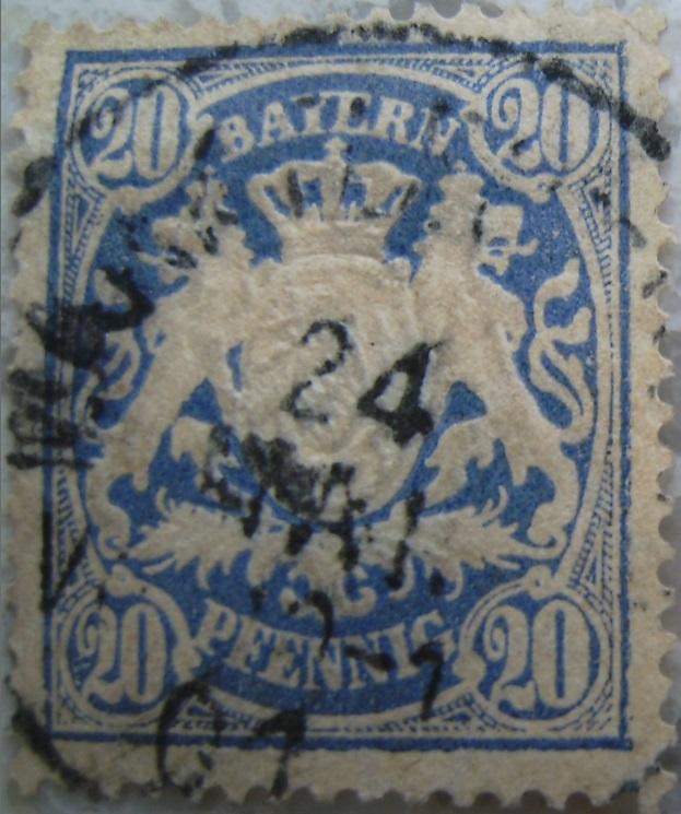 Briefmarke 20 Pfennig Blau 1901paint.jpg