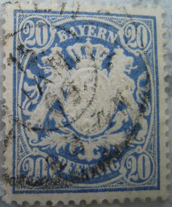 Briefmarke 20 Pfennig Blau 1909paint.jpg