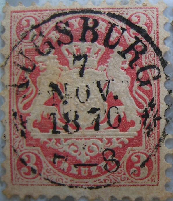 Briefmarke 3 Kreuzer 1870 Hellrotpaint.jpg