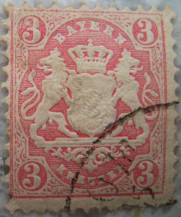 Briefmarke 3 Kreuzer Rosapaint.jpg
