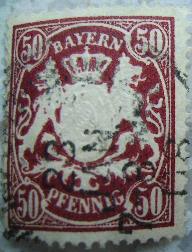 Briefmarke 50 Pfennig Weinrot 1908paint.jpg