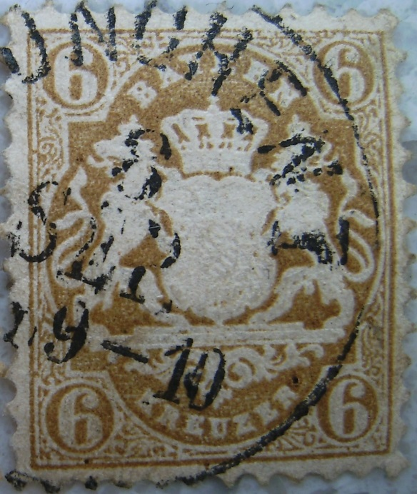 Briefmarke 6 Kreuzer 1879 Braunpaint.jpg
