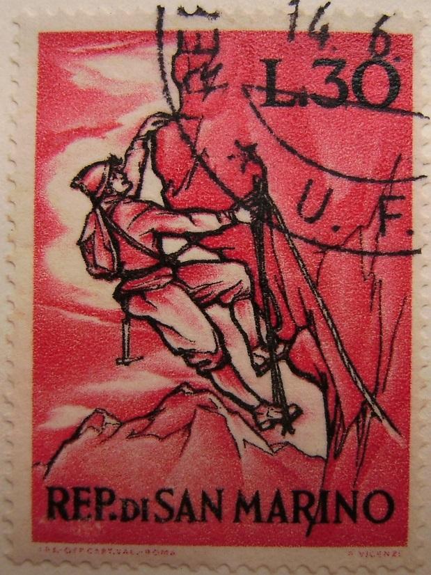 Briefmarkenserie La montagna 14_06_1962 San Marino07paint.jpg