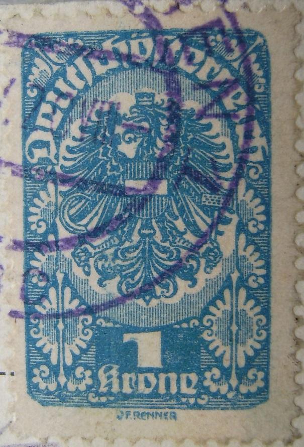 Deutschoesterreich 1 Krone blau 18_05_1920-02paint.jpg
