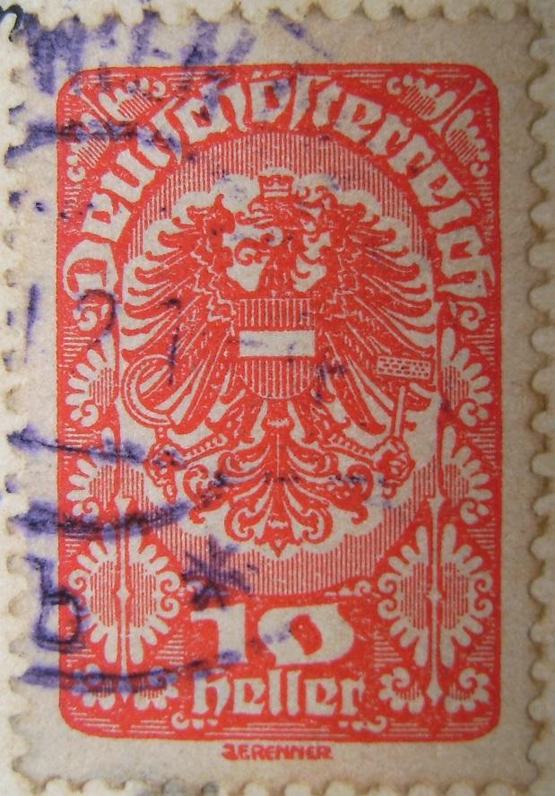 Deutschoesterreich 10 Heller dunkelorange 30_07_1921paint.jpg