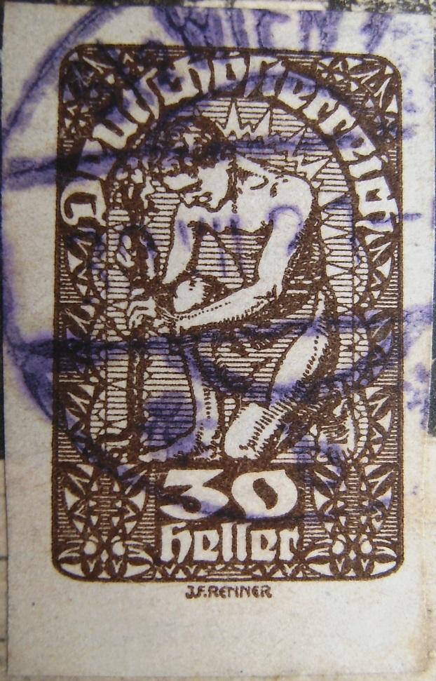 Deutschoesterreich 30 Heller braun 30_07_1921paint.jpg