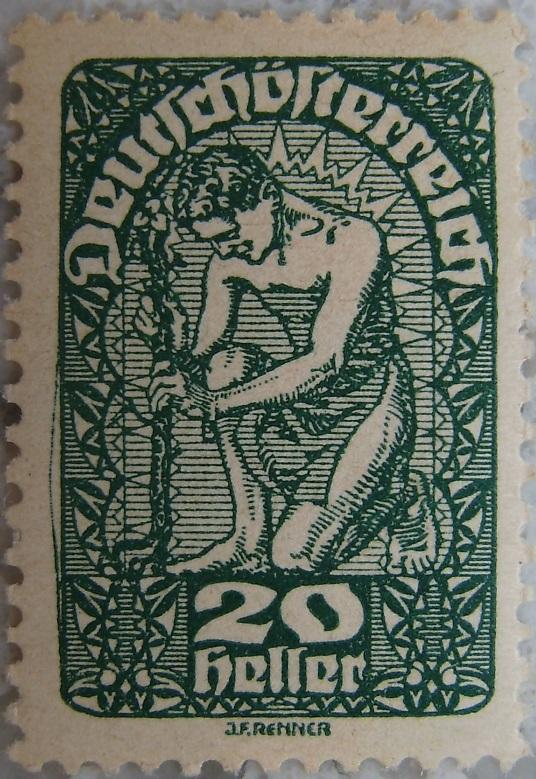 Deutschoesterreich Freimarken 1919_10 - 20 Heller dunkelgruenp.jpg