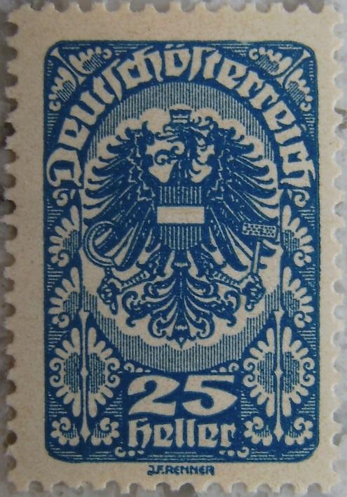 Deutschoesterreich Freimarken 1919_11 - 25 Heller blaup.jpg