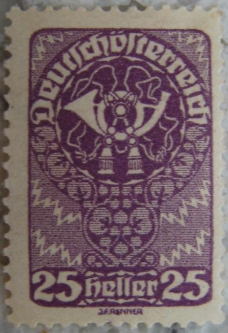 Deutschoesterreich Freimarken 1919_12 - 25 Heller lilap.jpg