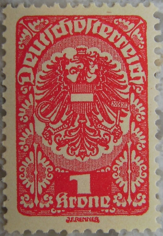 Deutschoesterreich Freimarken 1919_19 - 1 Krone rotp.jpg