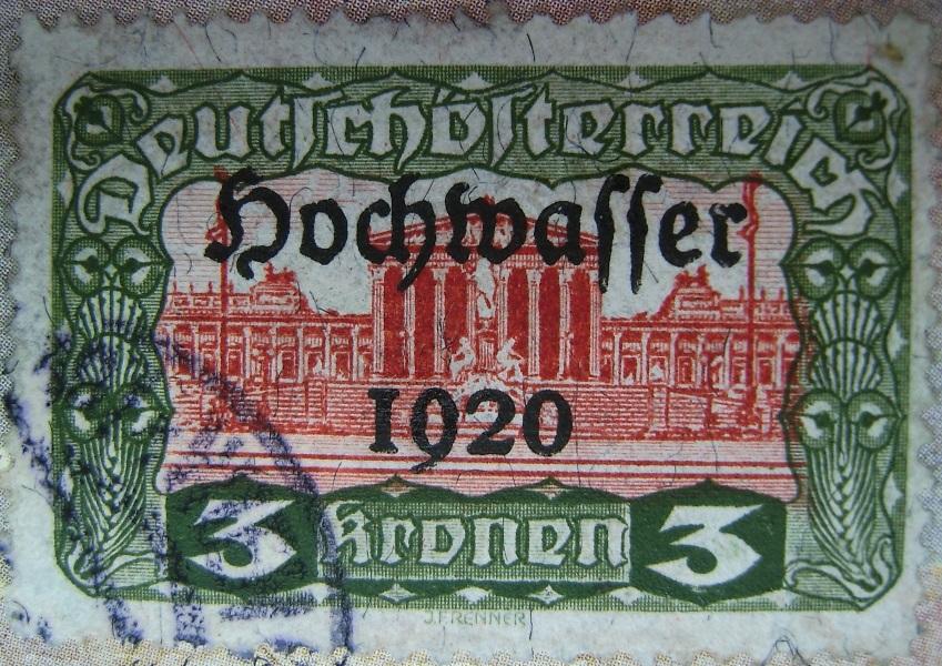 Deutschoesterreich Hochwasser 3 Kronen gruen-rot 01_03_1921paint.jpg