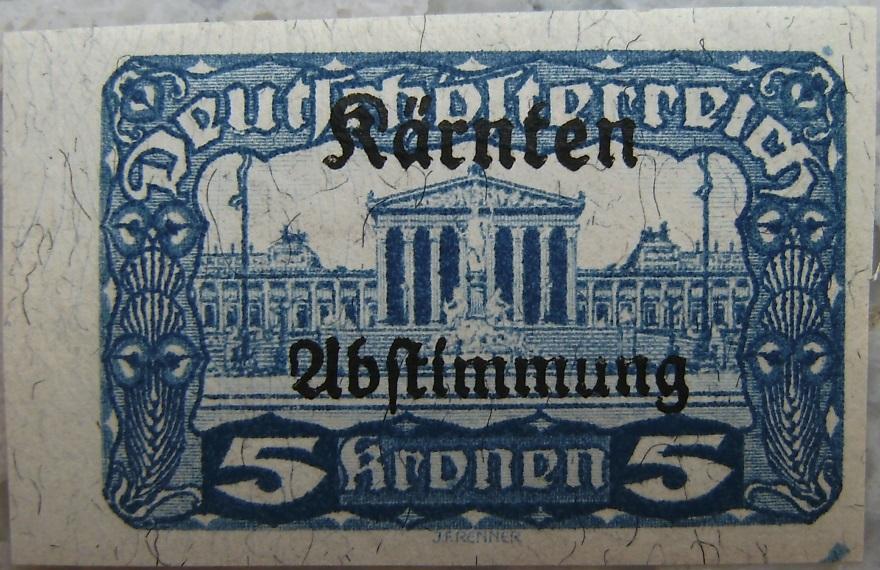 Deutschoesterreich Kaernten Abstimmung16 5 Kronenp.jpg
