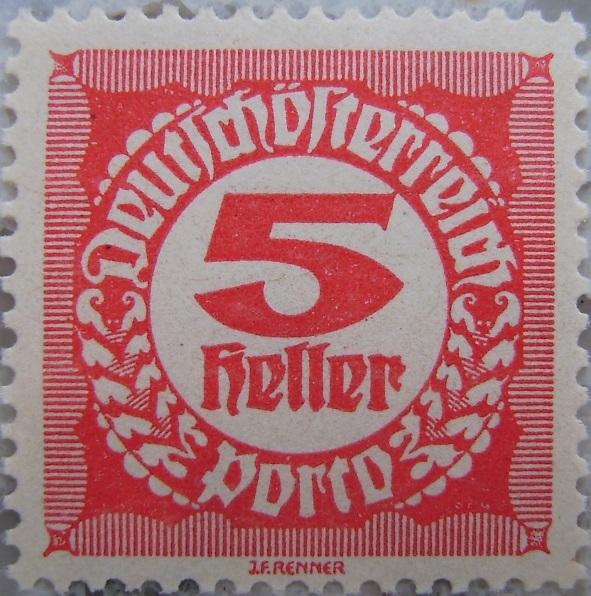 Deutschoesterreich Portomarke gezaehnt1 - 5 Hellerp.jpg