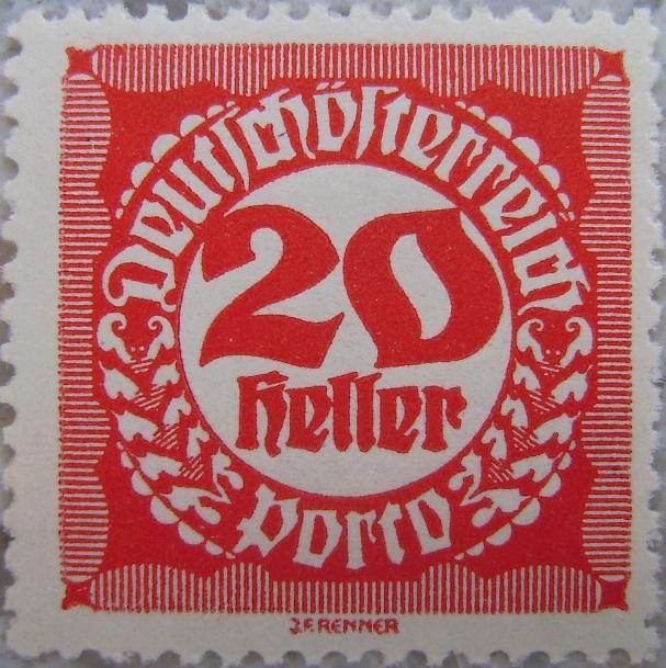 Deutschoesterreich Portomarke gezaehnt4 - 20 Hellerp.jpg
