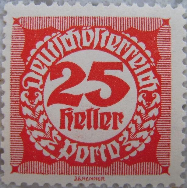 Deutschoesterreich Portomarke gezaehnt5 - 25 Hellerp.jpg