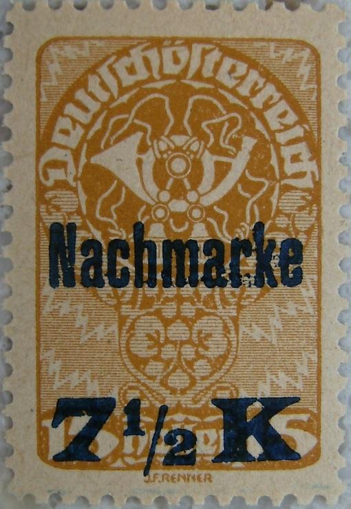 Deutschoesterreich Portomarke Nachmarke 7_5 Kronenp.jpg