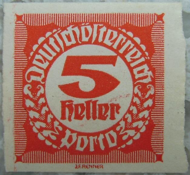 Deutschoesterreich Portomarke ungezaehnt1 - 5 Hellerp.jpg