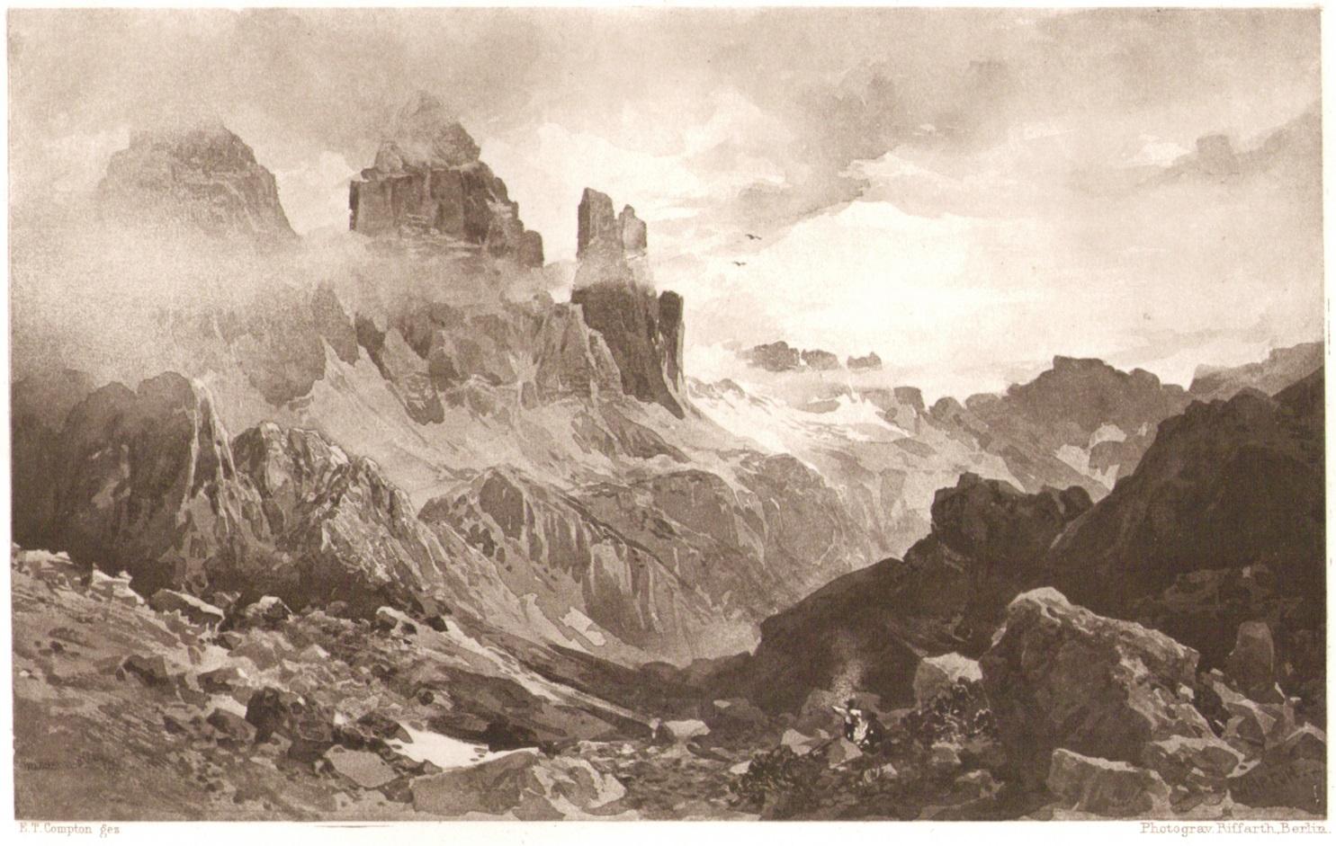 Edward Theodore Compton - Drei Zinnen 1889p.jpg