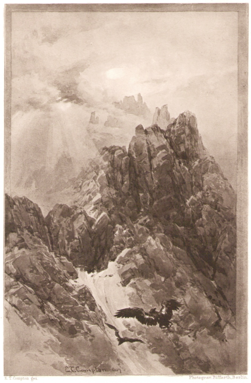 Edward Theodore Compton - Nebelsonne am Haunold 1887p.jpg