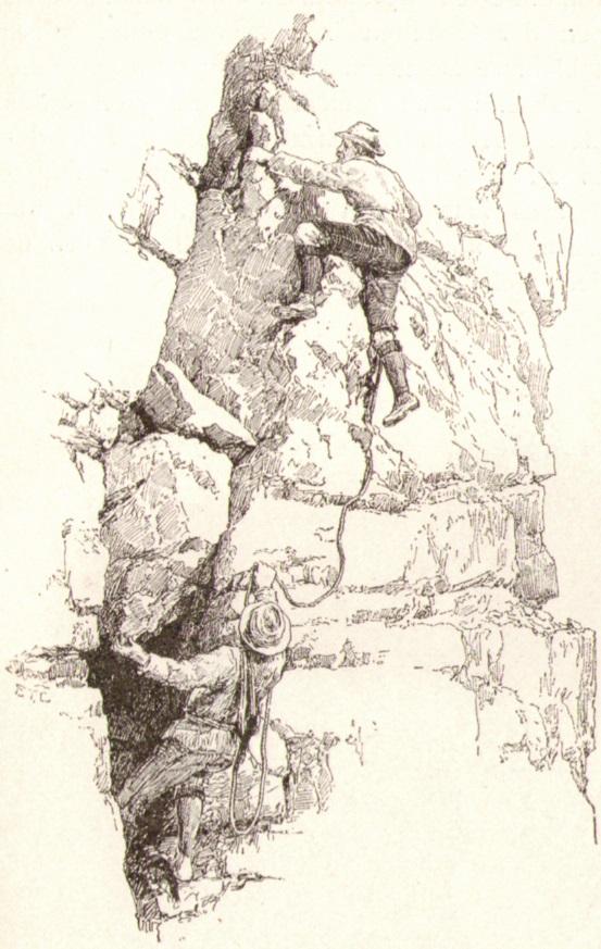 Edward Theodore Compton07 Erklimmung eines Dolomitturmsp.jpg