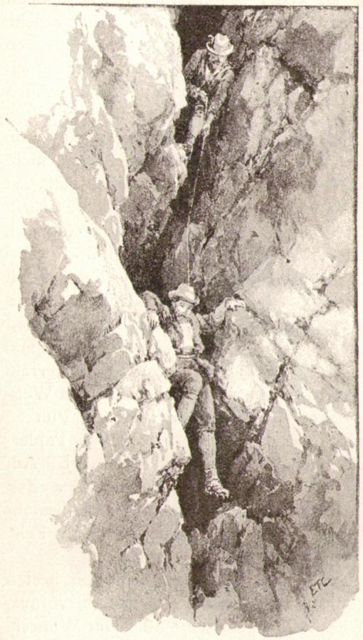Edward Theodore Compton09 Abstieg durch einen Kaminp.jpg