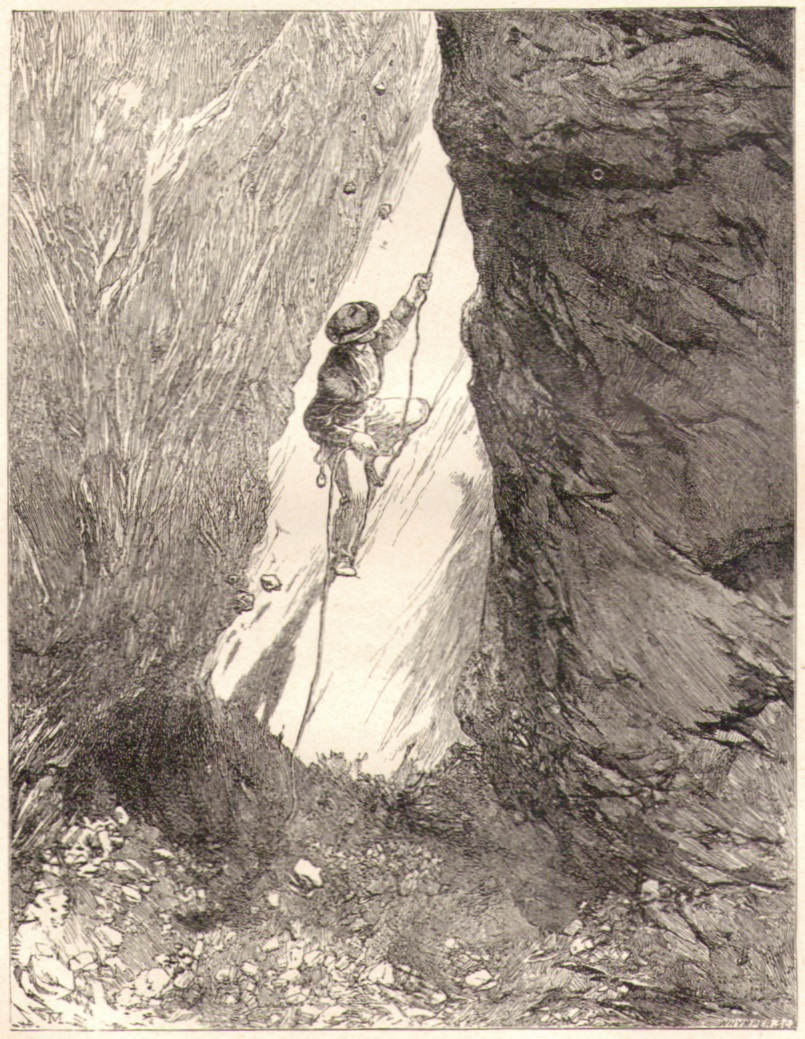 Edward Whymper02 Der Schornstein auf dem Matterhorn-Suedwestgratp.jpg