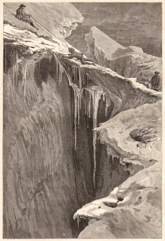 Edward Whymper08 Bergschrund Dent Blanche 1865p.jpg