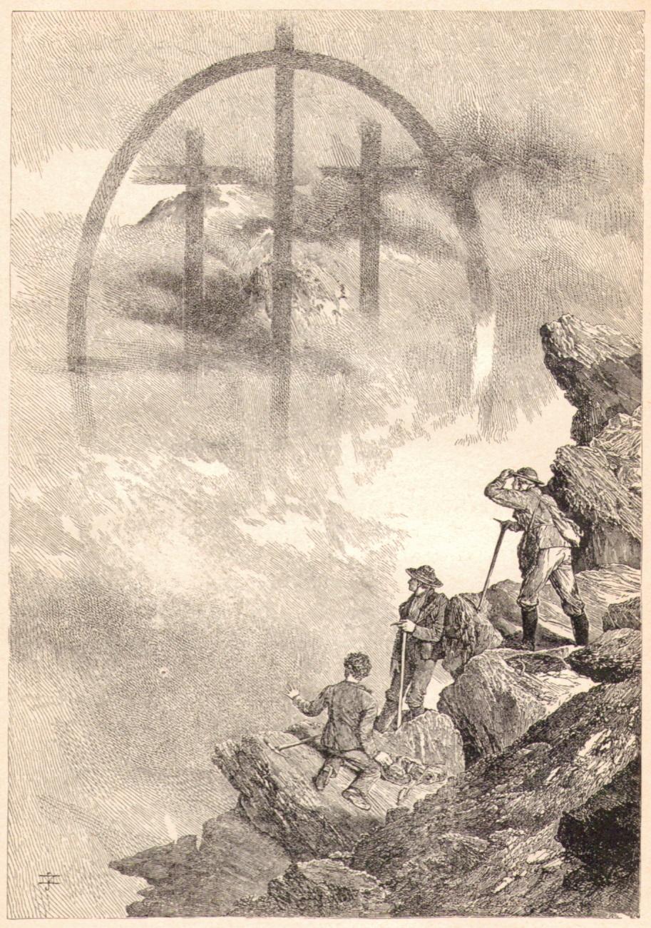 Edward Whymper14 Nebelbild vom Matterhorn aus gesehen am 14 Juli 1865p.jpg
