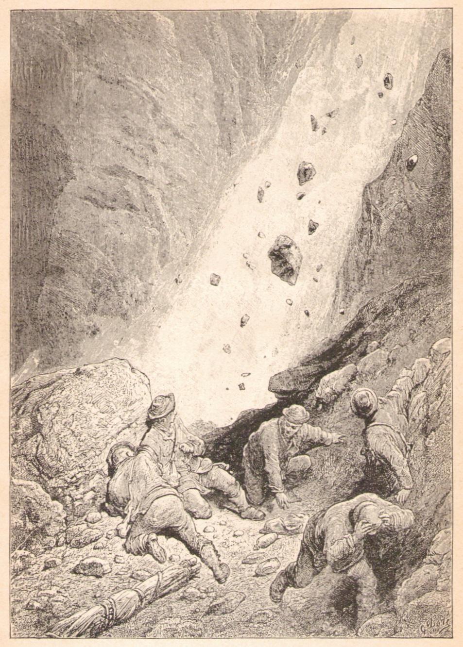Gustave Dore - Eine Steinlawine am Matterhornp.jpg