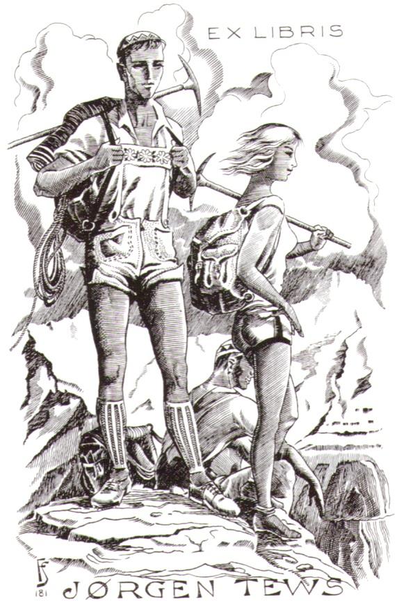 Julio Fernandes Saez Exlibris 1962p.jpg