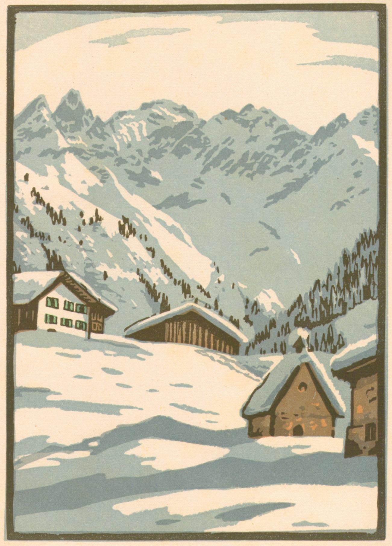 K Schmidt-W - Winter in Einödsbach Holzschnitt um 1925p.jpg