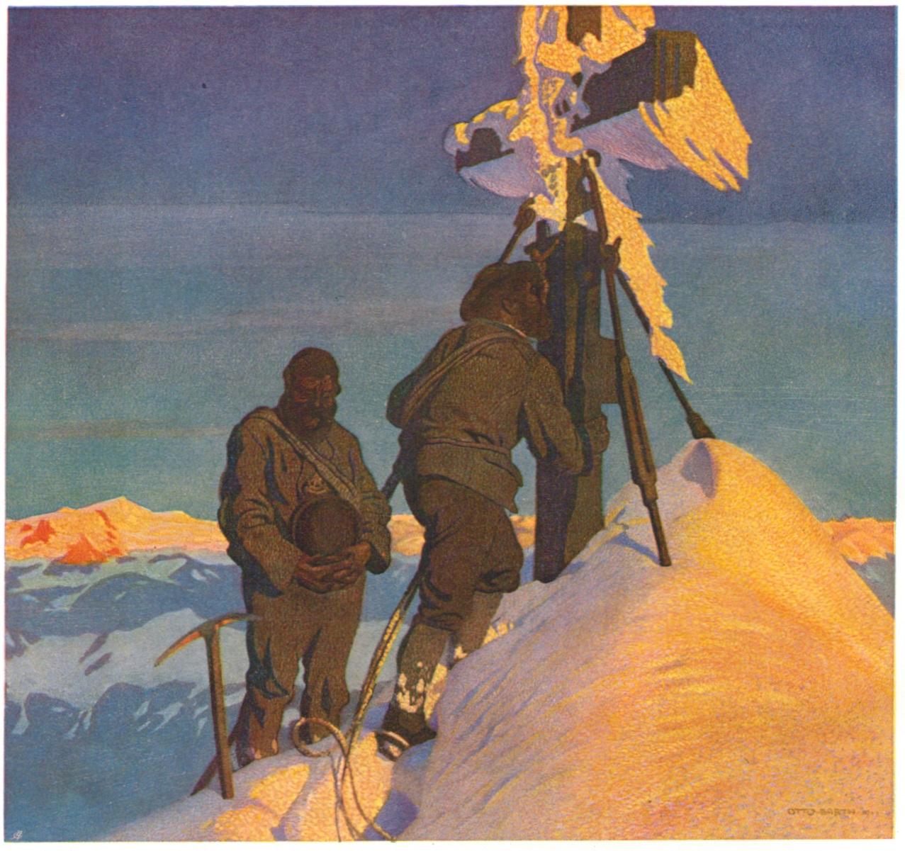 Otto Barth - Morgengebet auf dem Grossglocknerpaint.jpg