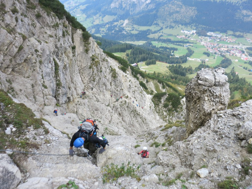 Klettersteig Iseler : Über salewa klettersteig auf iseler und kühgundspitze